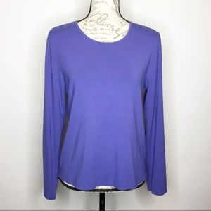 Eileen Fisher Purple Long Sleeve  Top